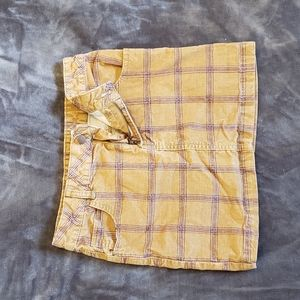 BDG Plaid Corduroy Skirt
